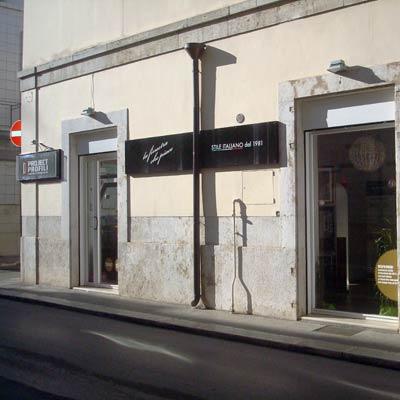 Showroom project profili Andria - esterno del negozio