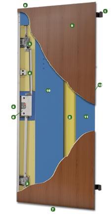 porta blindata Smart (classe 3) con cerniera a scomparsa