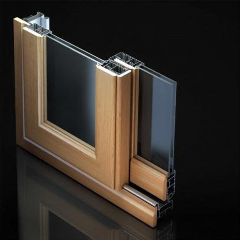 scorrevole alluminio legno allco wood s